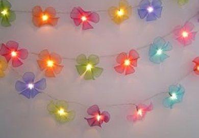 Amazon Com String Lights Flower Home Kitchen