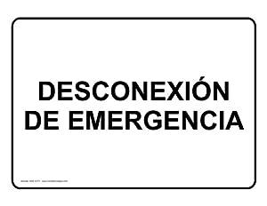Amazon.com : Emergency Shutdown Spanish Sign NHS-13771