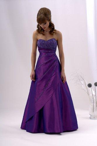 Ballkleid Abendkleid schlanke Optik lila