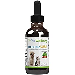 Dog Immune Support Booster - Immune SURE for Dogs by Pet Wellbeing - Natural Immune Booster for Dogs - 2oz(59ml)