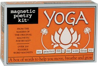 Magnetic Poetry - Yoga Kit - Words for Refrigerator - Write Poems and Letters on the Fridge