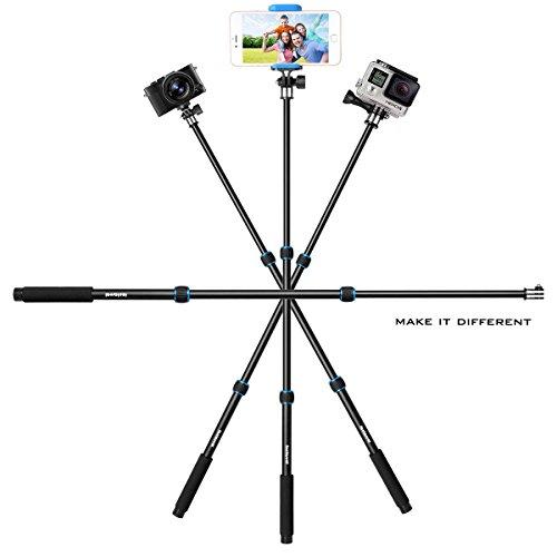 Fantaseal Selfie Stick Alluminum Alloy 3-in-1 Multipurpose