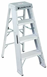 Louisville Ladder AY8004 300-Pound Duty Rating Aluminum Step Stands, 4 ...