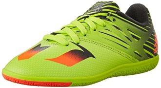 adidas Performance Messi 15.3 Indoor Soccer Shoe (Little Kid/Big Kid),Semi Solar Slime/Solar Red/Black,5 M US Big Kid