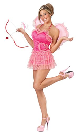Funworld Womens Cupid Sexy Satin Dress Costume, M/L (8-14)