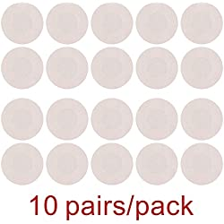 10 Pairs Womens Adhesive Nipple Covers Disposable Breast Petal Pads Patches (Rounded Satin)