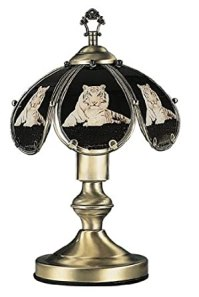 14 Inch White Tiger Touch Lamp - Table Lamps - Amazon.com