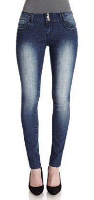 Angels-Jeans-Juniors-Triple-Button-Short-Inseam-Skinny-Jeans-in-Jase-Size7