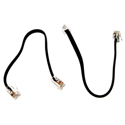 (2 Pack) 5 Inch Short Telephone Cable Rj11 Male To Male 5