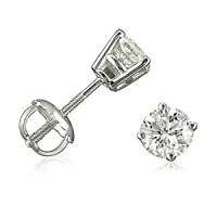 1/2ct tw Round Diamond Stud Earrings set in 14K White Gold ...
