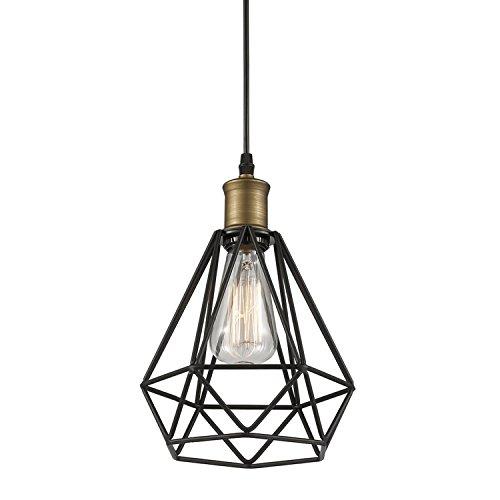 YOBO Lighting Polygon Wire Pendant Light Art Deco