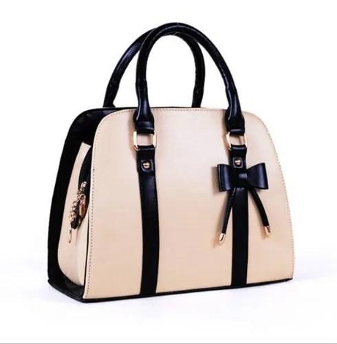 JOVANAS FASHION Lady Handbag Little Bow Leisure Shoulder Bag Purse (Beige)