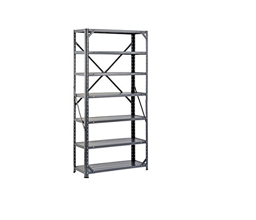 Edsal HC30127 Steel 7-Shelf Shelving Unit, 750 lb Capacity