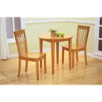 """Small Kitchen Tables: 30"""" Round Maple Finish Wood Dining ..."""