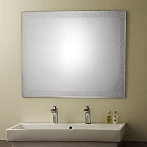Amazoncom  Decoraport Frameless Bathroom Silvered Mirror  Reversible and Flat Polished Edge