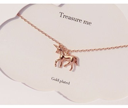 Estella Bartlett Unicorn Rose Gold Plated Necklace
