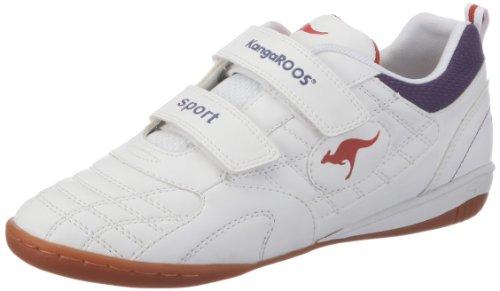 KangaROOS Lucca-V 10918/064, Unisex - Kinder Sportschuhe, Weiss  (wht/plum/redburn 064), EU 39
