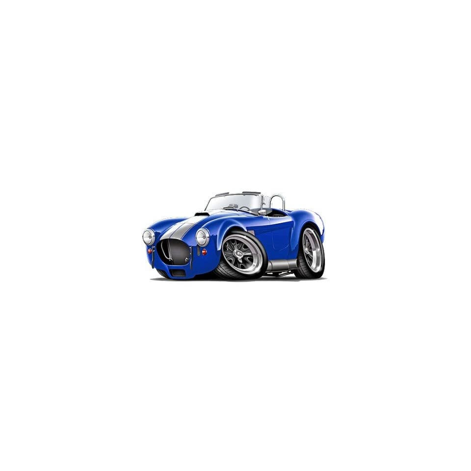 36 Shelby Cobra Kit blue Muscle car Wall Graphic Sticker
