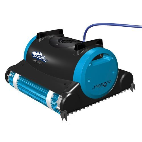 Dolphin Nautilus Robotic Pool Cleaner with Swivel Cable, 60-Feet