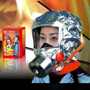 これで家族を地震火災、高層ビル火災から護る!! フルフェイス火災避難用マスク 防災・防煙マスク!!