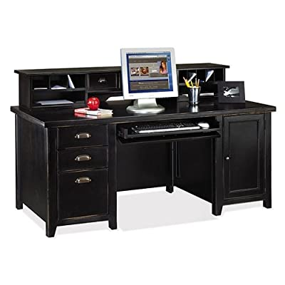 ahapopup 3 Martin Furniture Distressed Black Computer