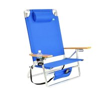Beach Chair Discount: 5 position Heavy Duty Lay Flat Beach
