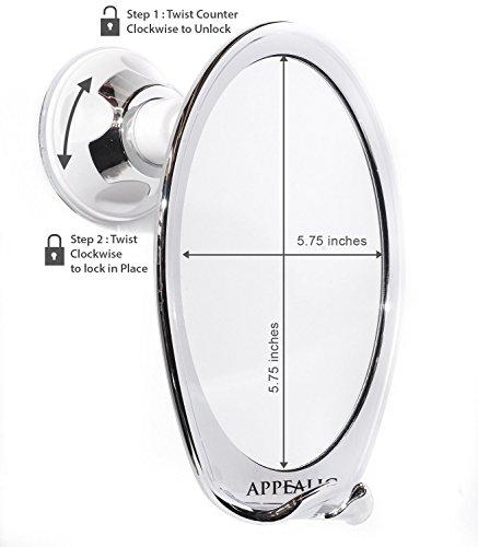 Fogless Shower Mirror for No Fog Shaving