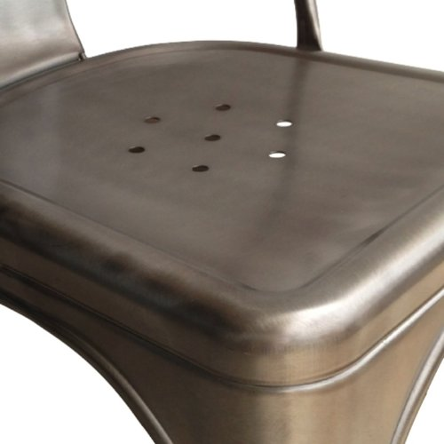 steel chair joints counter height directors stella metal cafe side in