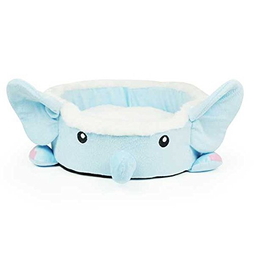 Soft Cartoon Elephant Bowl Pet House Bed