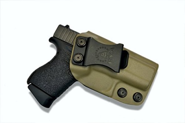 CYA Supply Co. IWB Holster Fits: Glock 43 Veteran Owned Company - Made in USA - Made from Boltaron - Inside Waistband Concealed Carry Holster