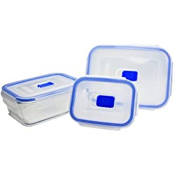 Luminarc Pure Box Active - Set de 3 recipientes rectangulares