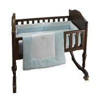 "Amazon.com : bkb Ric Rac Cradle Bedding, Pink, 18"" X 36 ..."