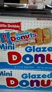 Amazoncom Little Debbie Mini Glazed Donuts 123 Oz