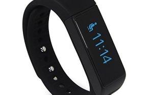 LUCOG Fitness Tracker Smart Bracelet Wristband - I5 Plus Activity Tracker Wellness Smart Watch Health Sleep Monitor w/ Step & Calorie Counter Morning Waking Up Vibration Alarm - Black