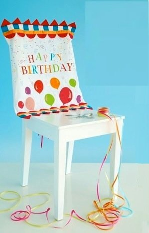 party decorations chair covers folding joints glitterville birthday decoration cover with happy review