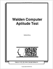 Walden Computer Aptitude Test: Bruce Winrow: 9781481078535