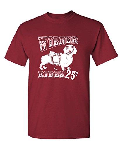 WIENER RIDES - dachshund funny sexy joke Tee Shirt