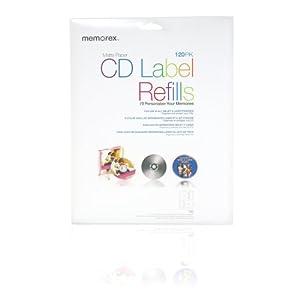 Amazon.com: Memorex CD/DVD Labels 120-Pack, White: Electronics