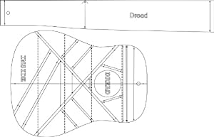 Amazon.com: dreadnought Acoustic Guitar Layout Template