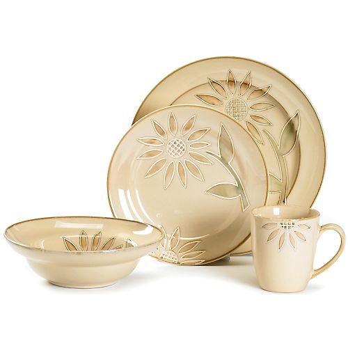 Pfaltzgraff Everyday Daisy Chain 16-Piece Dinnerware Set Service for 4