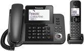 Panasonic KX-TGF320E - Teléfono (DECT, Wall/Desk, Negro, LCD, AAA, 1,88...