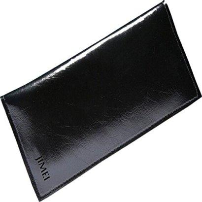 Ammazona-Women-Leather-Wallet-Card-Cash-Receipt-Holder-Organizer-Long-Folding-Purse-Handbag-Black