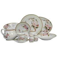Dinnerware Sets: Lynns Charmed Rose 49-Piece Dinnerware ...