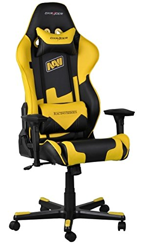 dx racing gaming chair bedroom ideas chairs plus racer series yellow and black natus vincere edition