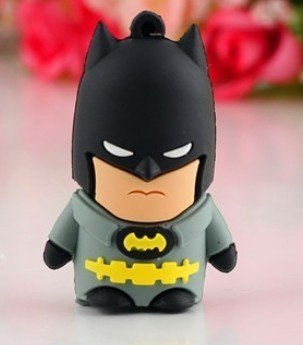 8GB Batman Grey Lovely Cartoon USB Flash Drives, Data Storage Device, USB Memory Stick Pen, Thumb Drive
