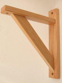 Wood Wall Brackets: Wood Shelf Bracket- Oak Straight 10