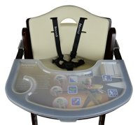 Abiie Beyond Wooden High Chair with Tray. The Perfect ...