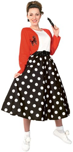 Rubie's Costume Fabulous 50's Polka Dot Sock Hop Girl, Multicolored, One Size Costume