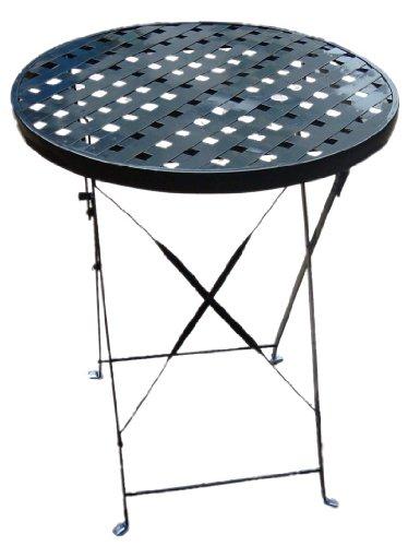 Biergarten-Tisch Gartentisch Tisch, rund, Metall, D: 60cm H: 70cm