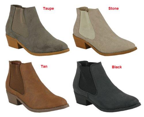 D3607 Low-Heels Stiefelette Damen schwarz UK6 | EU39